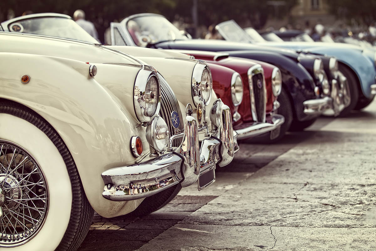 line of collectible cars