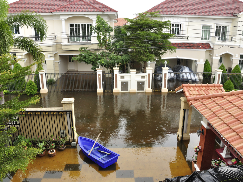 flood in a residential area, Must-Read Guide for Flood Insurance